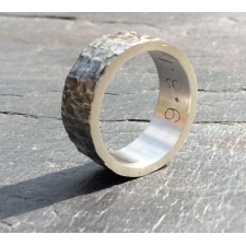 Personailsed chunky oxidised ring