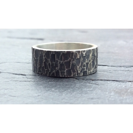Chunky oxidised ring