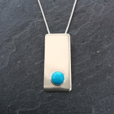 Turquoise rectangle pendant
