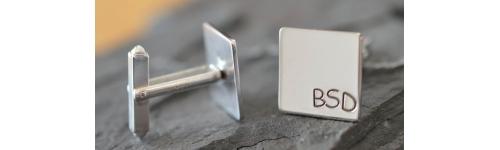 Cufflinks and tie / lapel pins
