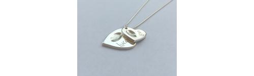 Silver Fingerprint Charms