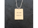 Personalised Date Necklace