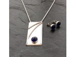 Sapphire Necklace + Earrings Set