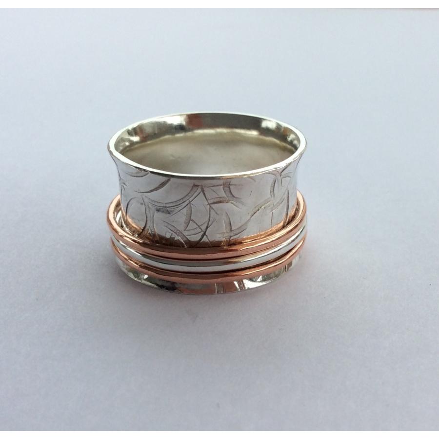 3 band worry ring sorrel sevier handmade jewellery